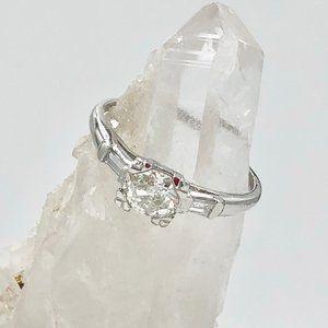 3/4 ct Platinum Diamond Engagement Ring